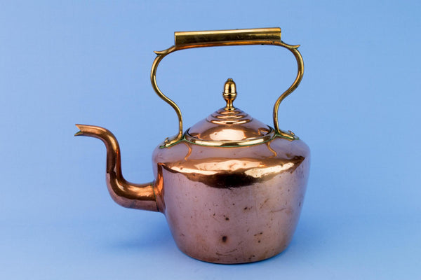Polished Copper Victorian Kettle, English 1870s