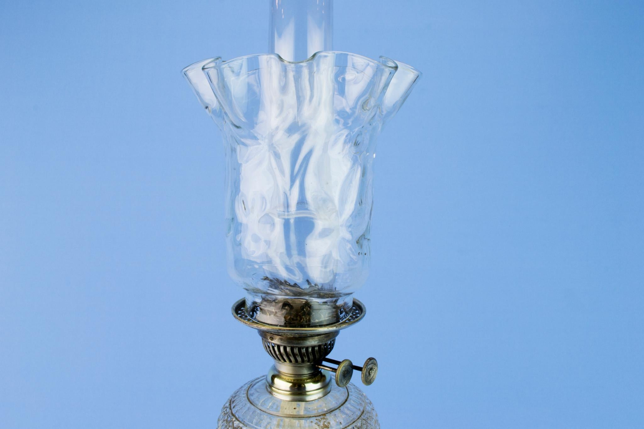 Tall Victorian Oil Lamp, English 19th Century