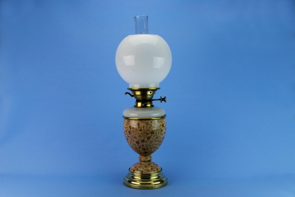 High Victorian Oil Lamp, English Circa 1870