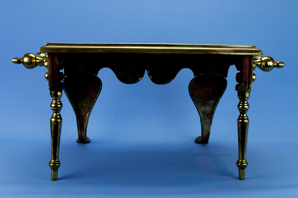 Brass Large Fireplace Victorian Stool, English 1840s