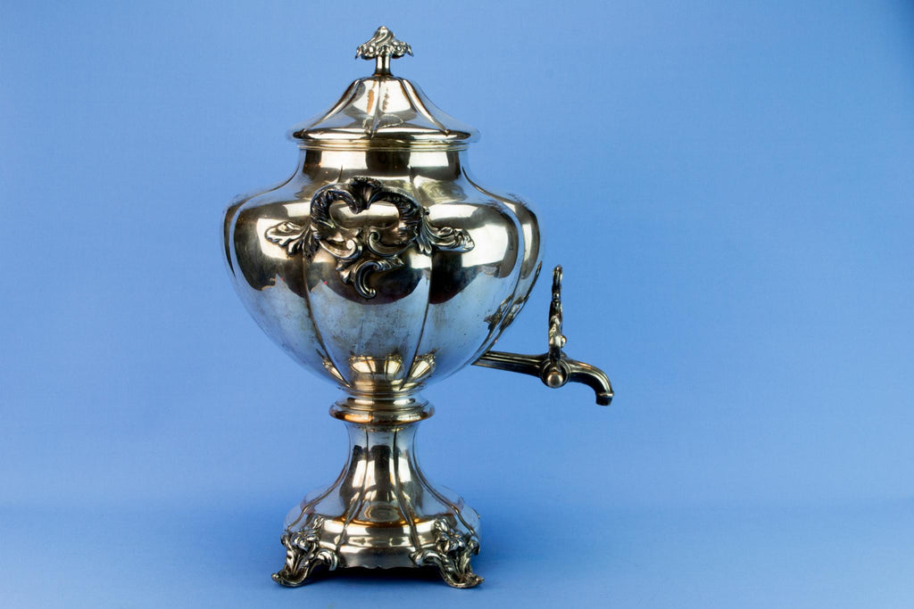 Silver Plated Large Hot Water Urn, English 1820s