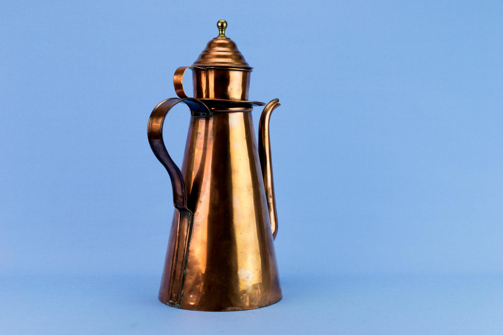 Rare Georgian Copper Coffee Pot, English Early 1800s