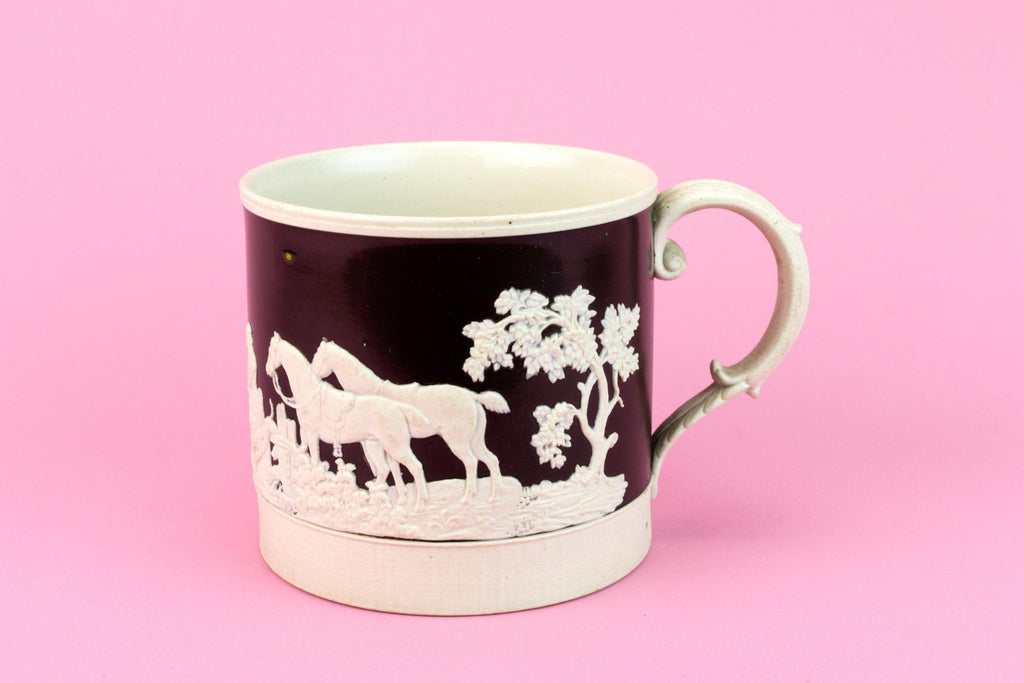 Fix Hunt Ceramic Tankard, English 1830s