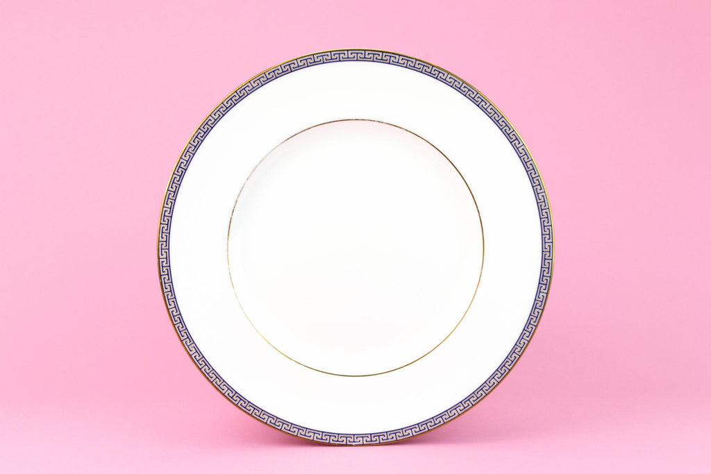 5 Bone China Dinner Plates By Wedgwood, English 1980s