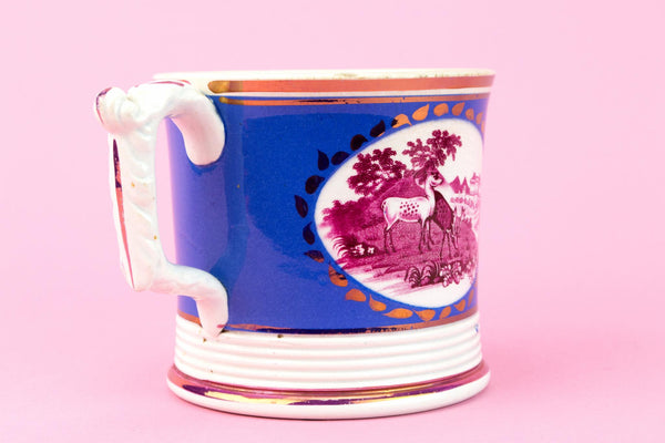 Blue Lustre Coffee Can, English 1830s