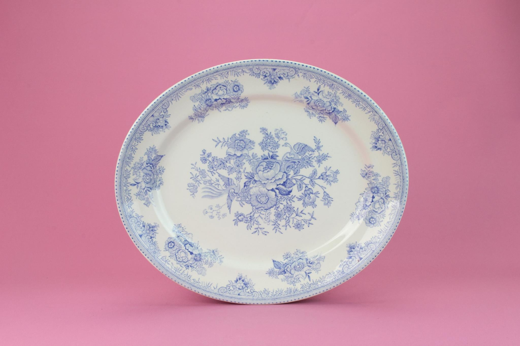Blue And White Medium Serving Platter, English 1930s