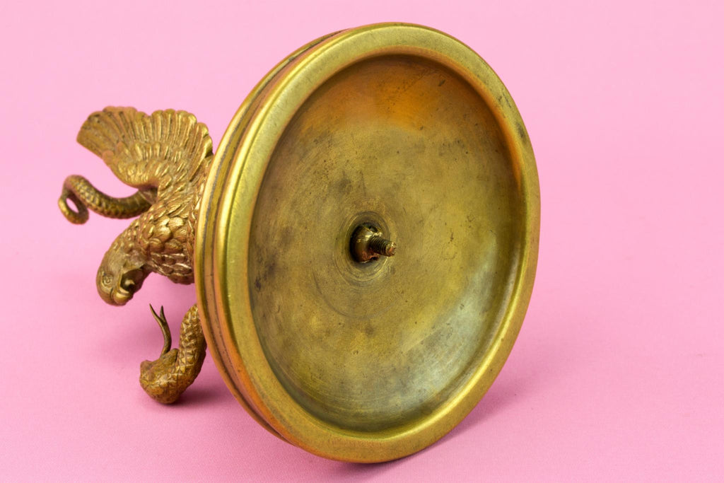 Eagle and Snake Pocket Watch Holder, English 19th Century