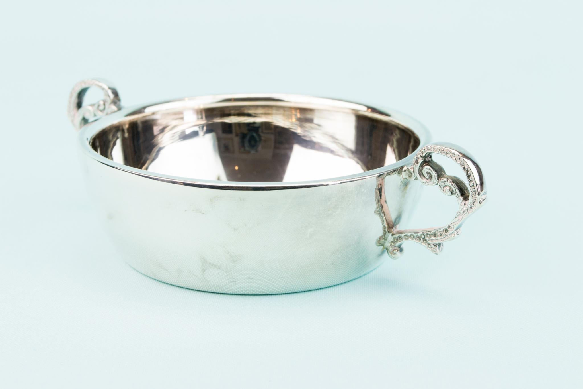 Silver Plated Small Traditional Serving Bowl