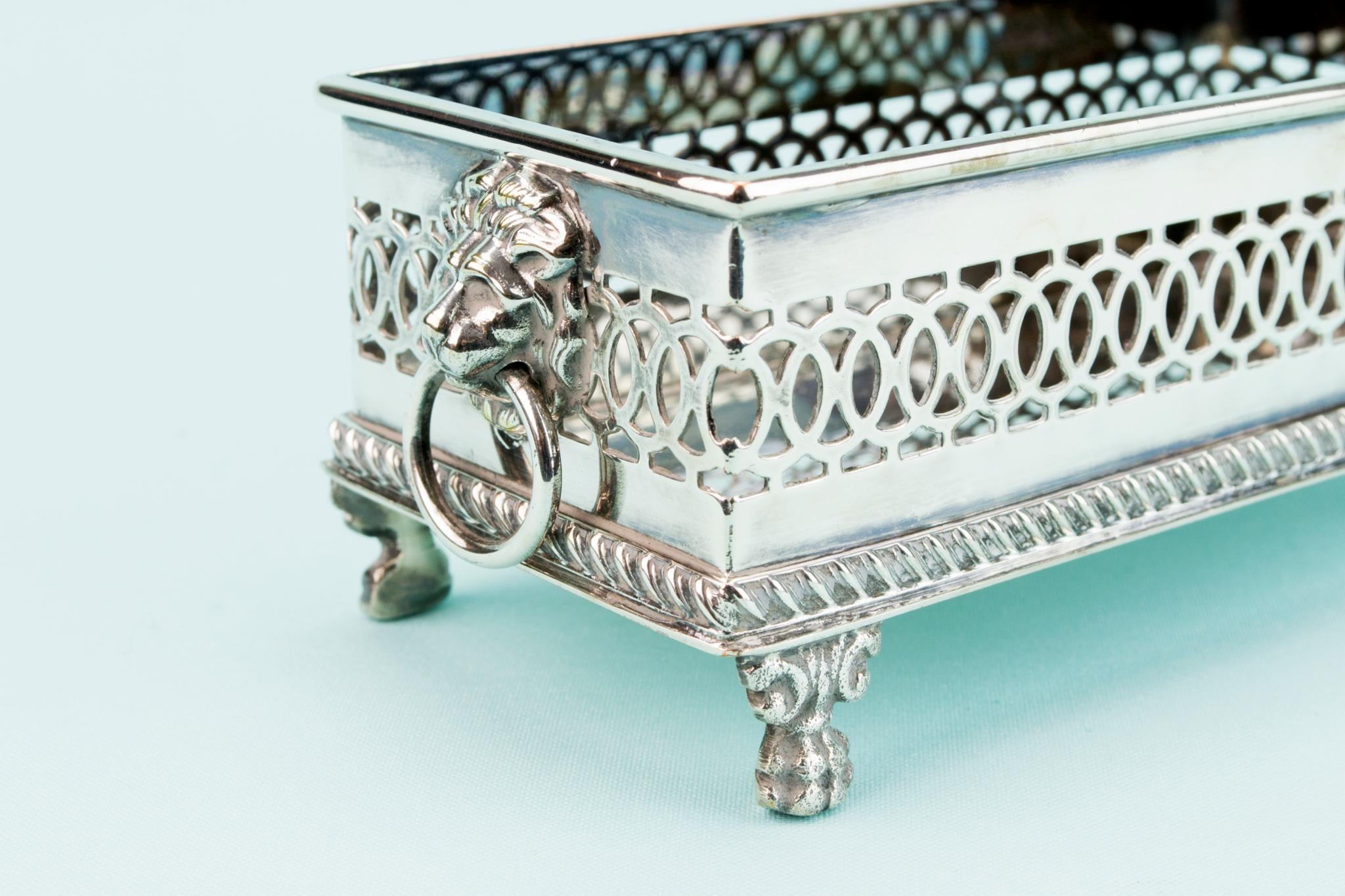 Silver Plated Small Decorative Bowl, English Early 1900s