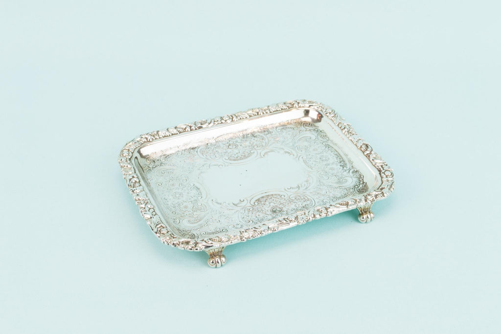 Silver Plated Playing Cards Tray, English circa 1900