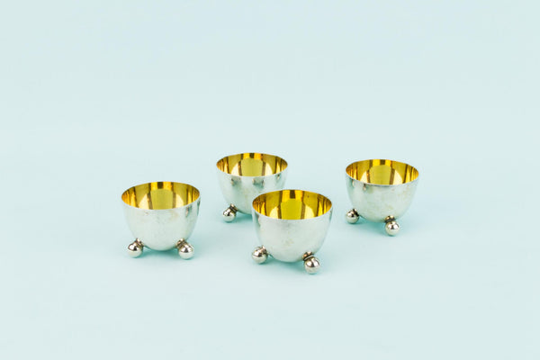4 Silver Plated Elkington Salt Cellars, English 1880s