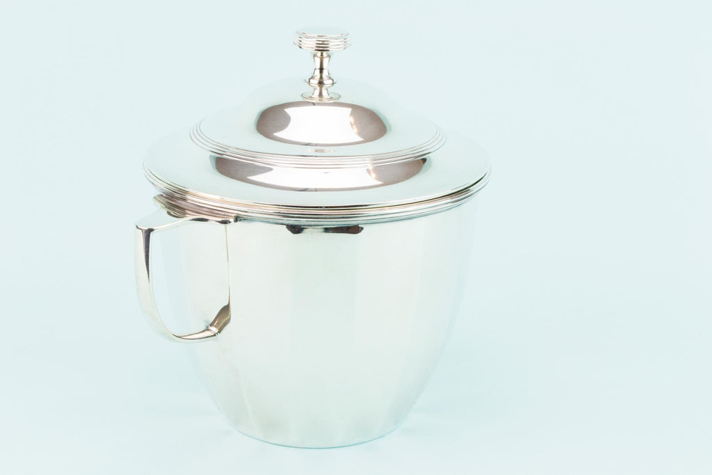 Art Deco Silver Plated Ice Bucket, English 1930s