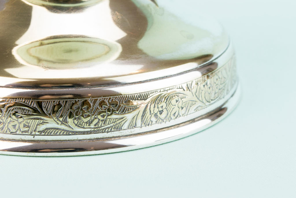 Silver Plated Dish on Stand, Anglo-Indian Early 1900s