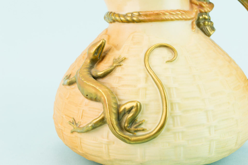 Royal Worcester Lizard Jug, English 1911