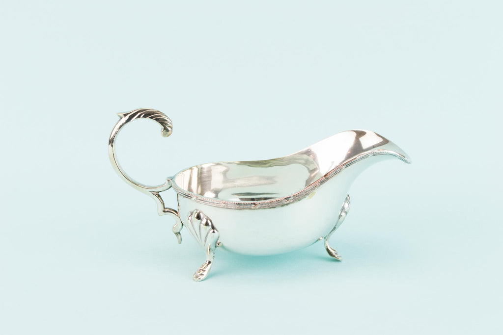 Silver Plated Gravy Boat, English 1930s