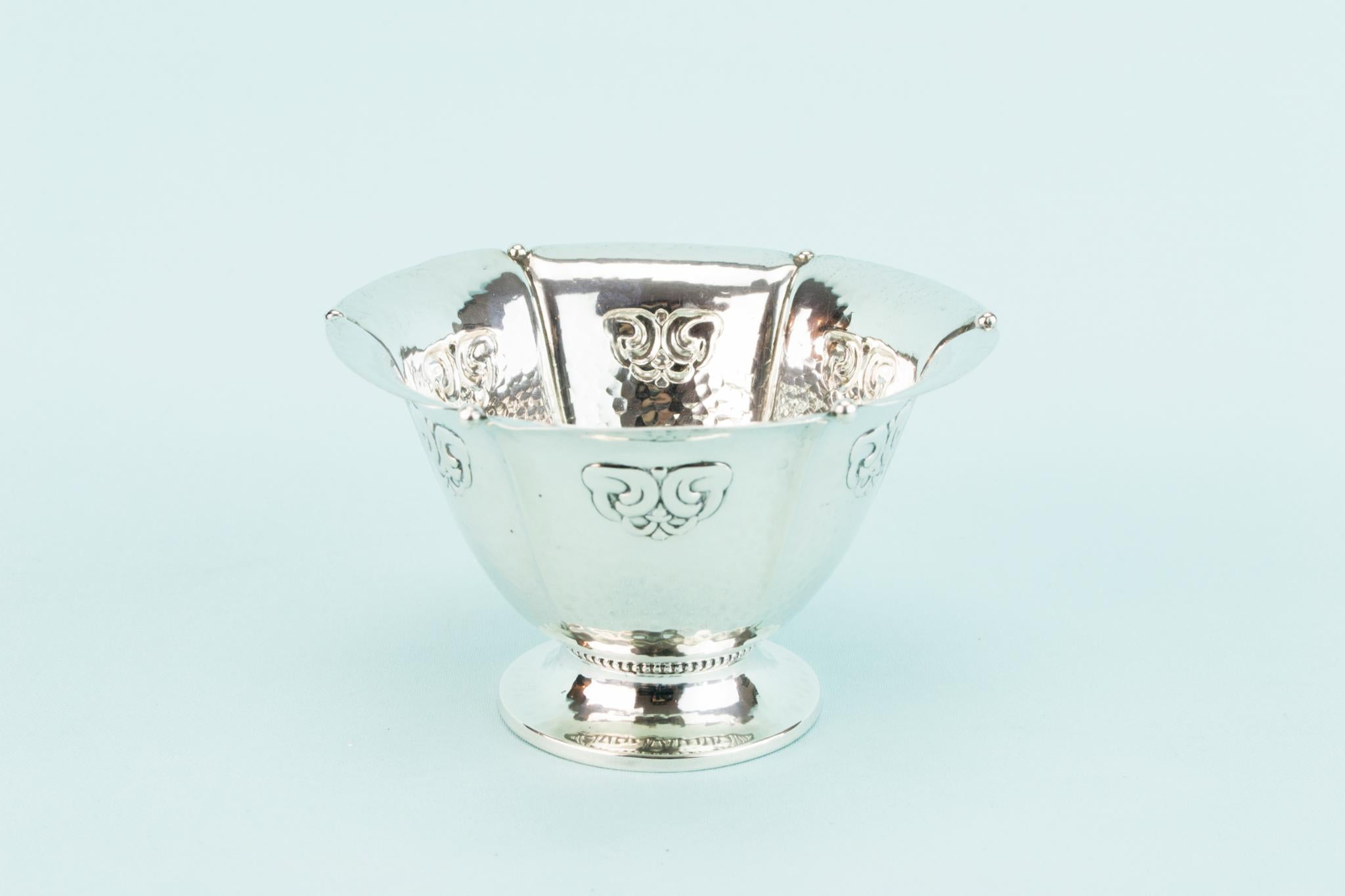 Sterling Silver Art Deco Serving Bowl, Danish 1927
