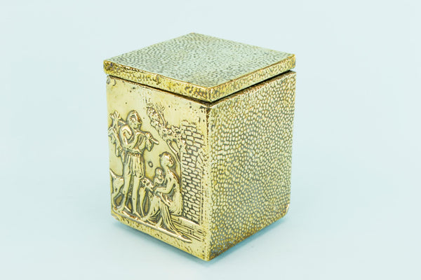 Medium Brass Tea Box, English Circa 1900