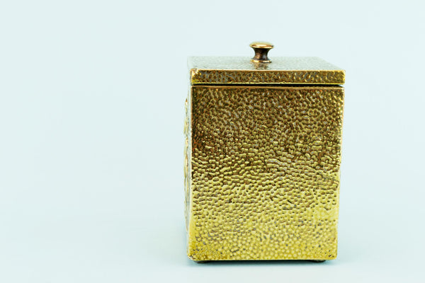 Tea Storage Box in Brass, English Circa 1900