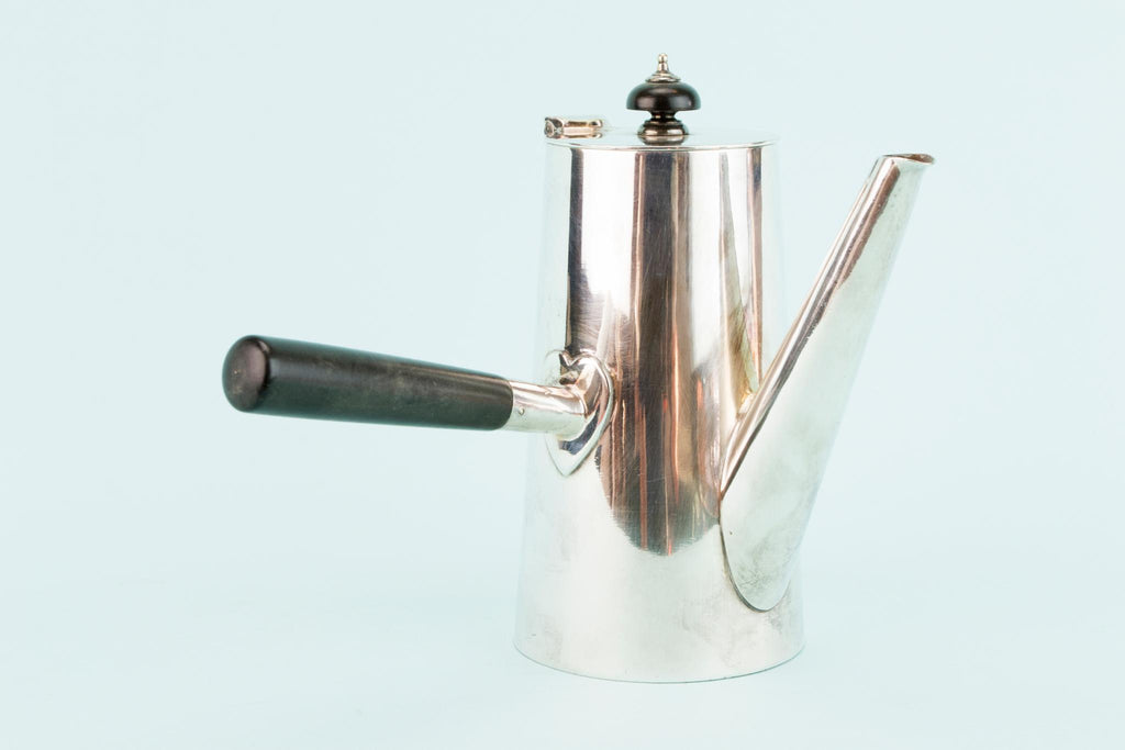 Silver Plated Arts & Crafts Coffee Pot, English Early 1900s