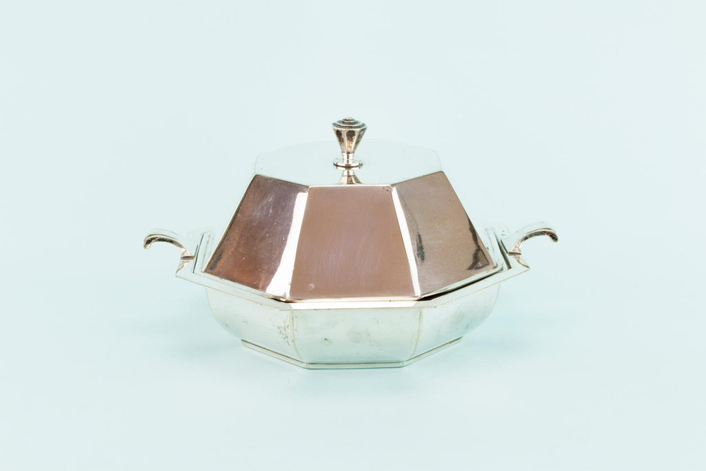 Silver Plated Hot Serving Dish, English 1930s