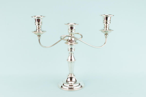 Silver Plated Large Candelabra, English Mid 20th Century