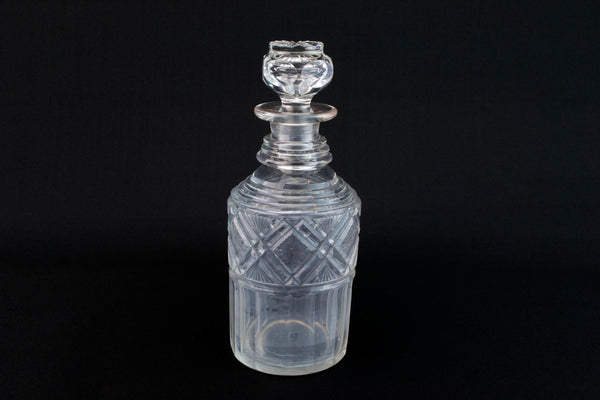Cut Glass Whisky Decanter, English 1830s