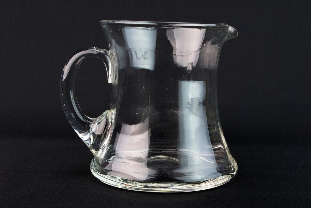 Blown Glass Jug, English 1930s
