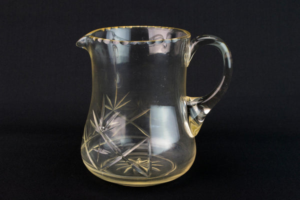 Cut Glass Water Jug, English 1930s