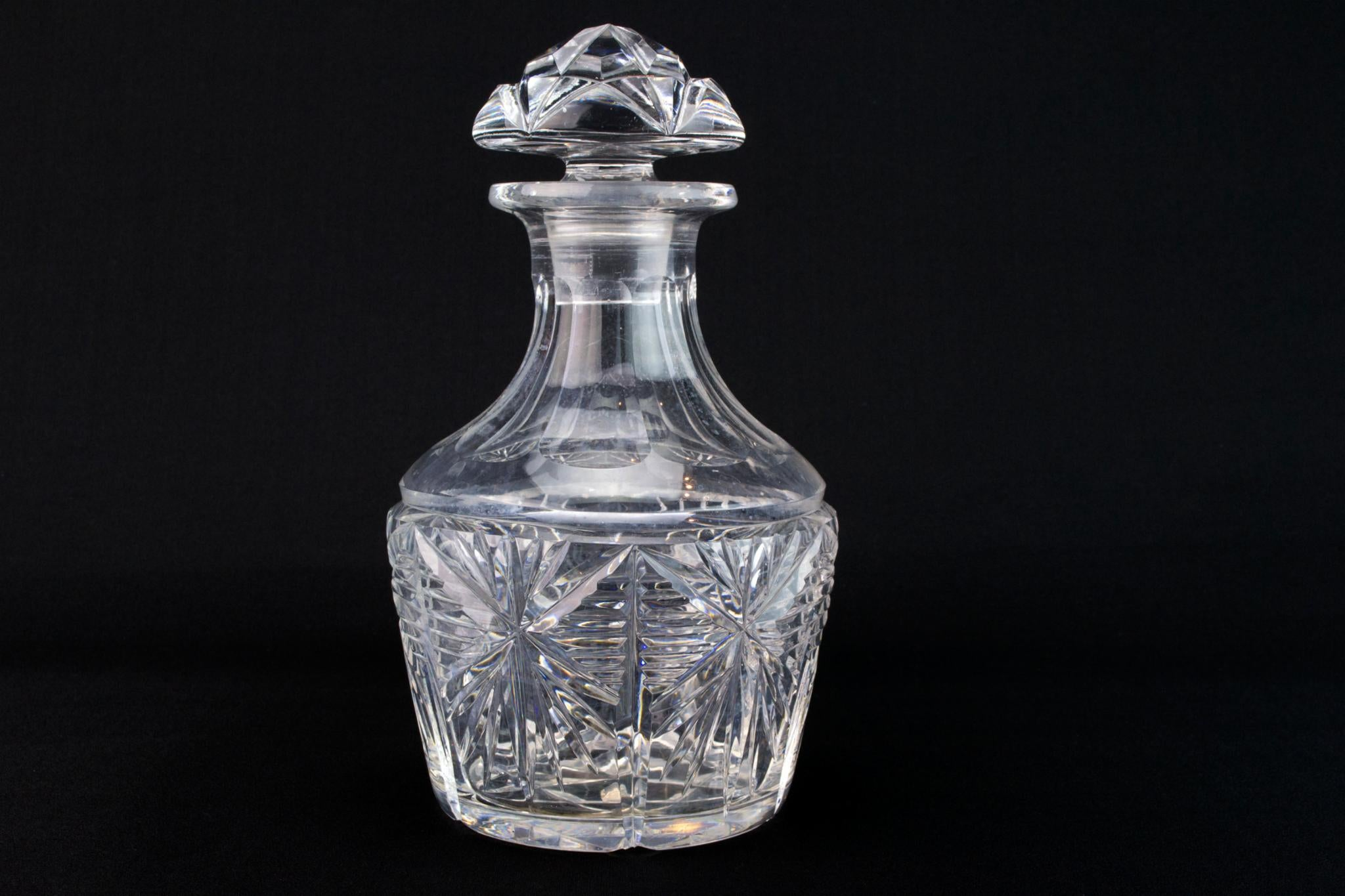 Cut Crystal Glass Whisky Decanter