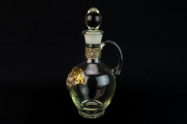Glass Wine Carafe with Silver Plated Mounts
