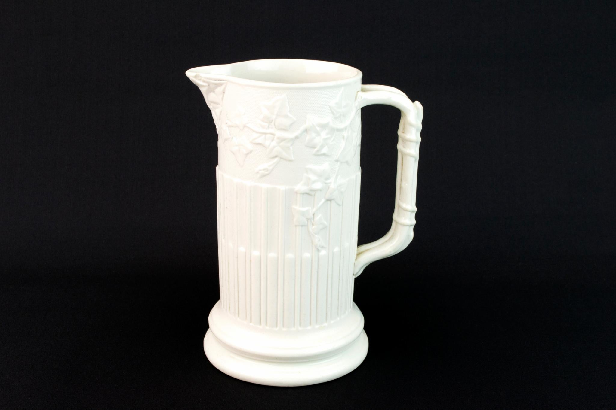 Parian Ware Pottery Jug, English 1860s