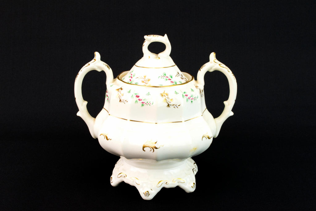 Large Pear Shaped Sugar Bowl, English 1830s