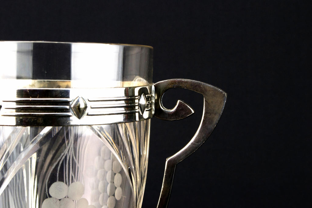 WMF Silver Plated & Glass Ice Bucket, German Early 1900s