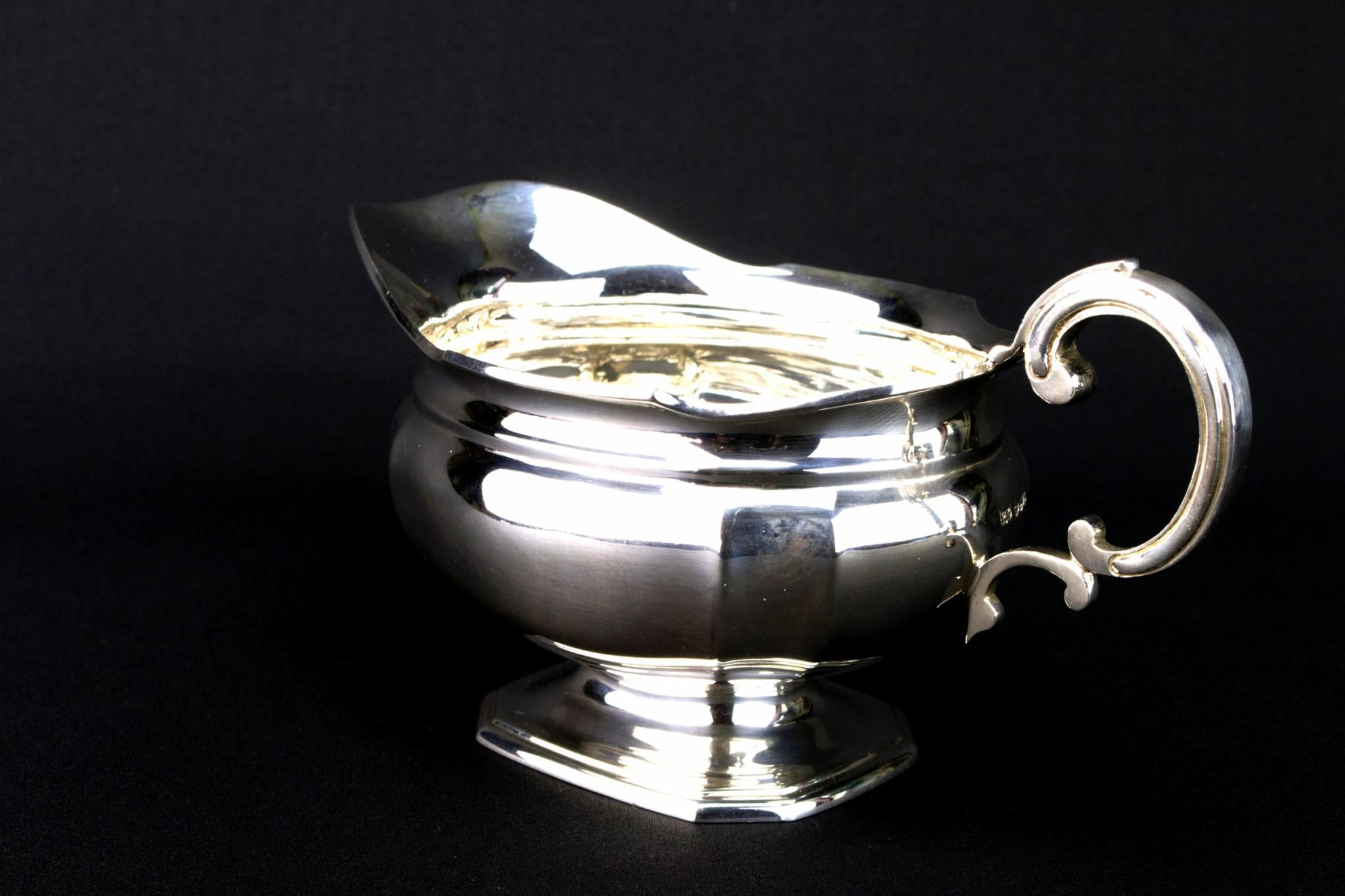 Mappin & Webb Sterling Silver Gravy Boat, English 1964