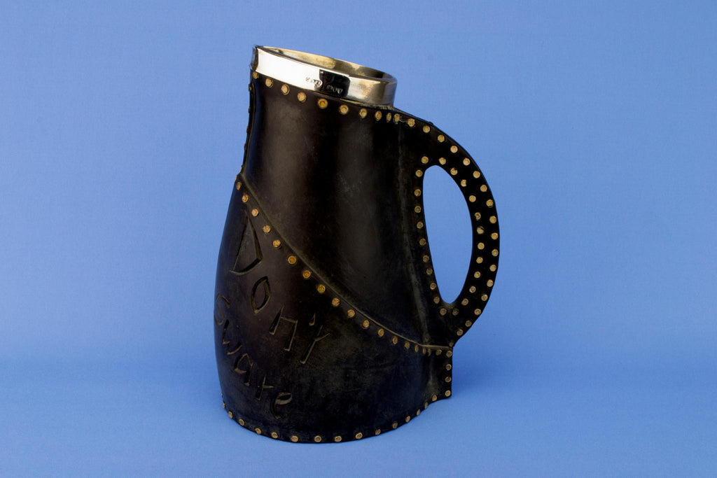 Royal Doulton Leather Imitation Jug, English 1895