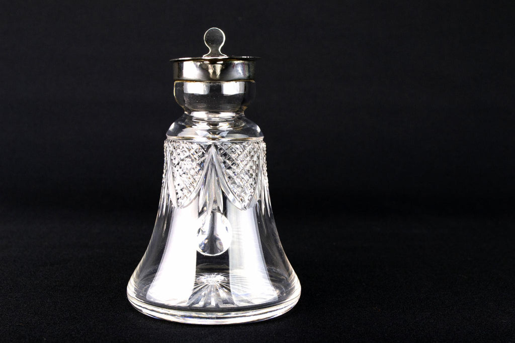 Sterling Silver & Glass Whisky Noggin, English 1913