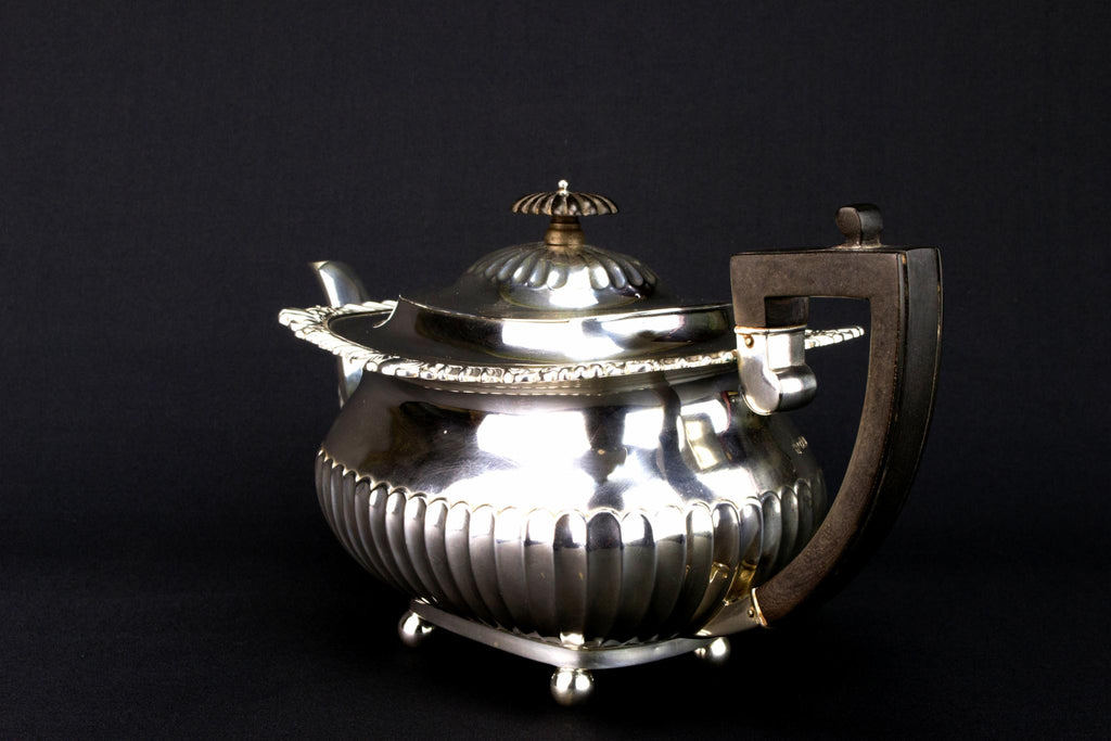 Sterling Silver Teapot by William Hutton, English 1913