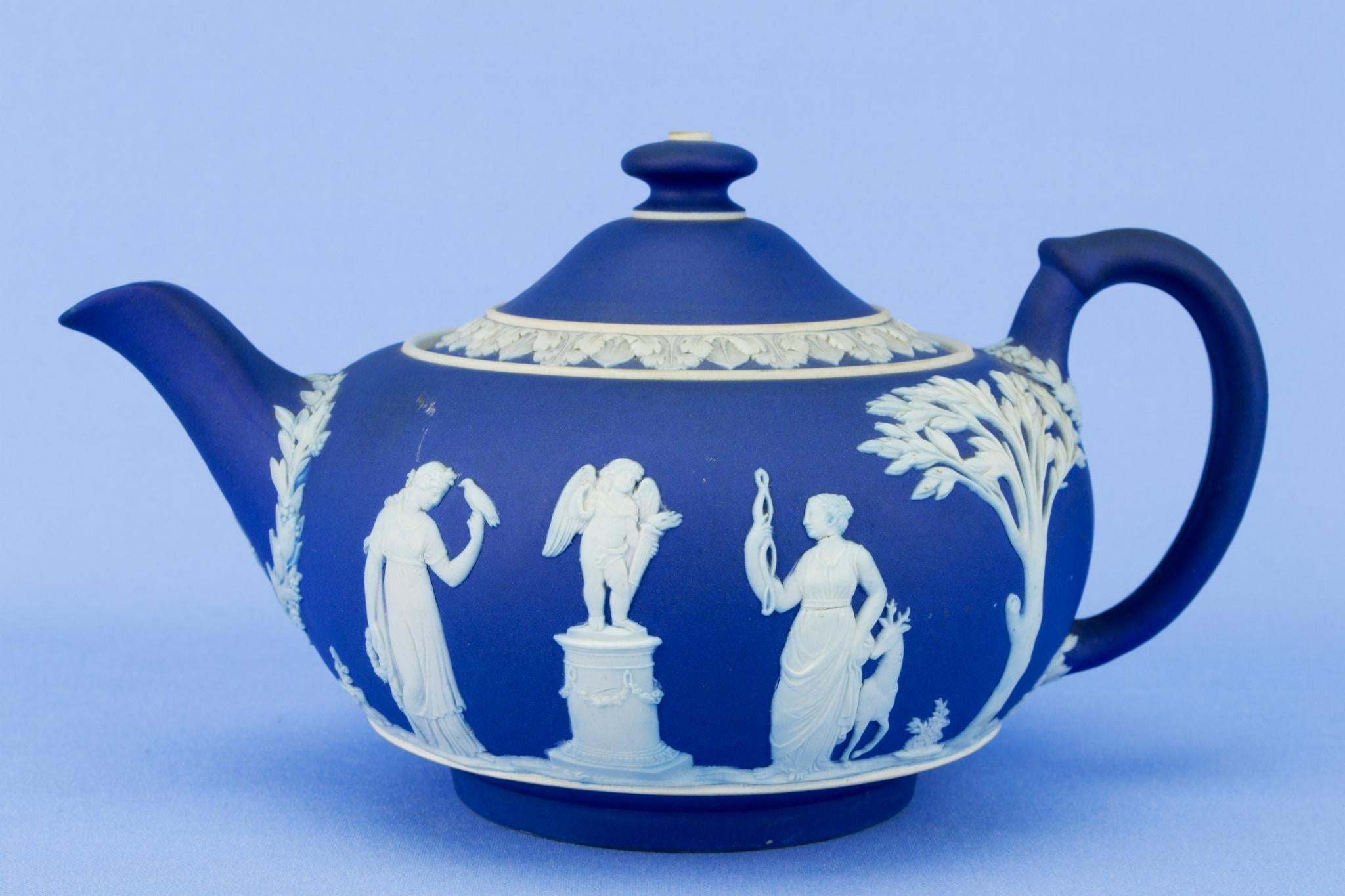 Jasperware Wedgwood Teapot, English Early 1900s
