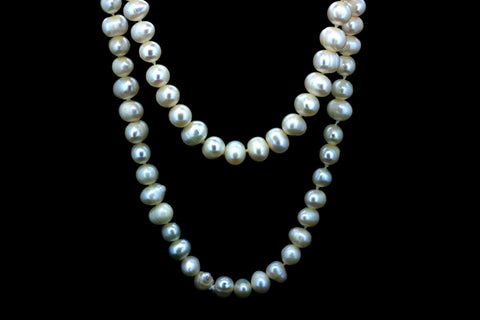 Long Fresh Water Cultured Pearl Necklace