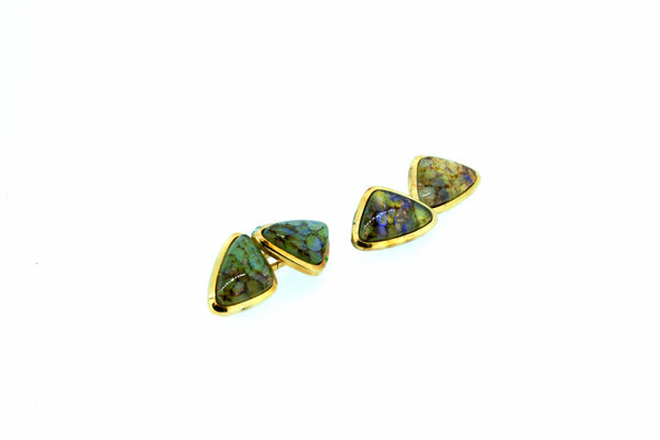 Gold Plated Gem Set Cufflinks