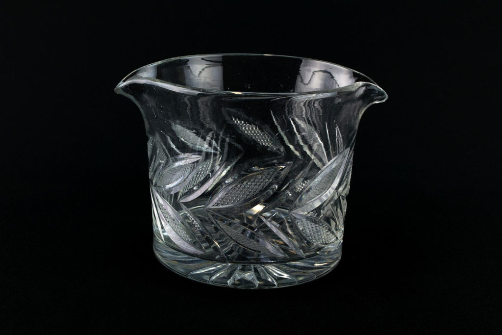 Cut Glass Ice Bucket. English 19th Century