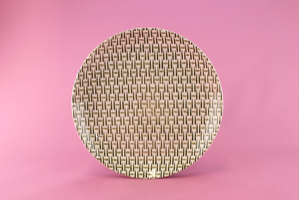 6 Weave Pattern Dinner Plates, English 1960s