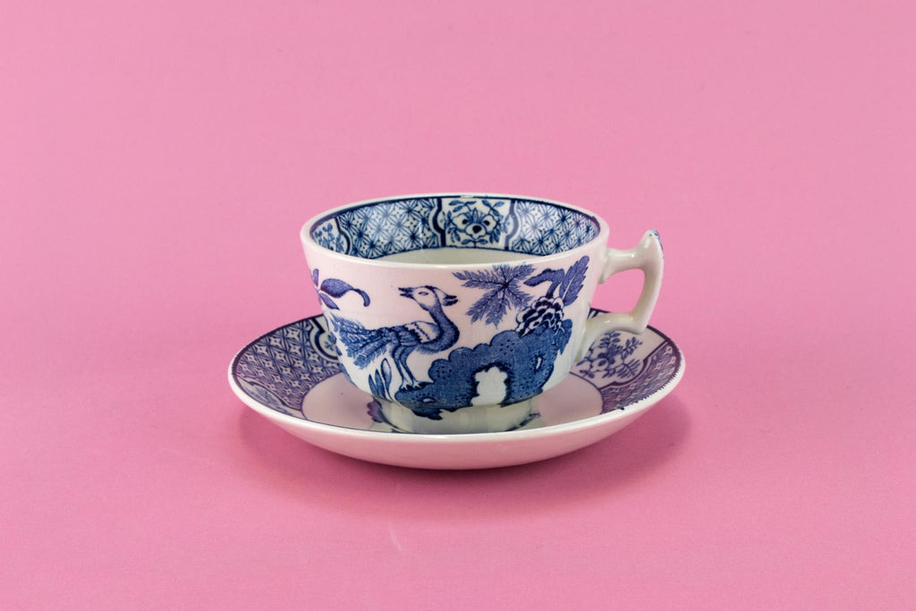 Blue & White Yuan Tea Set, English 1910s