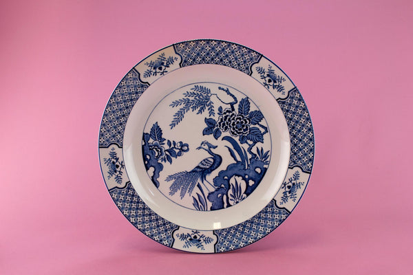 6 Blue and White Yuan Dinner Plates, English 1910s