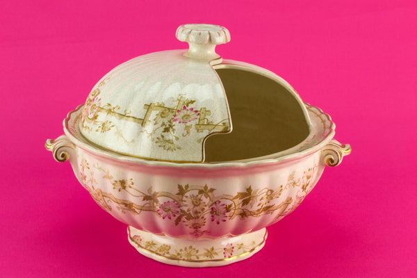 Large Rotating Lid Punch Bowl, English Circa 1880