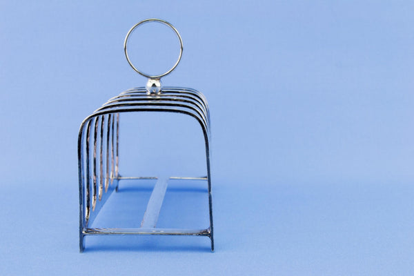 Silver Plated Medium Toast Rack, English 1920s