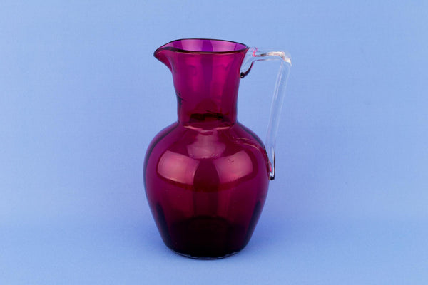 Cranberry Red Glass Jug, English Circa 1900