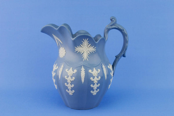 Blue Jasperware Jug, English 1820s