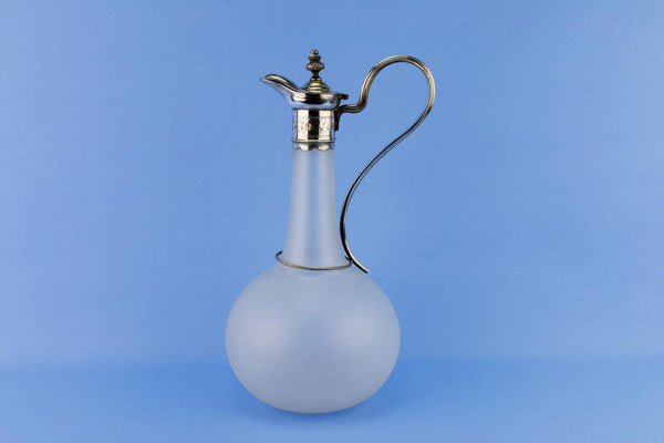 Frosted Glass Carafe, English 19th Century
