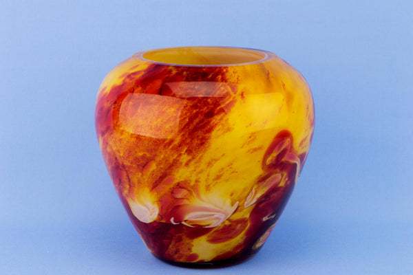 La Rochere Yellow & Red Glass Vase